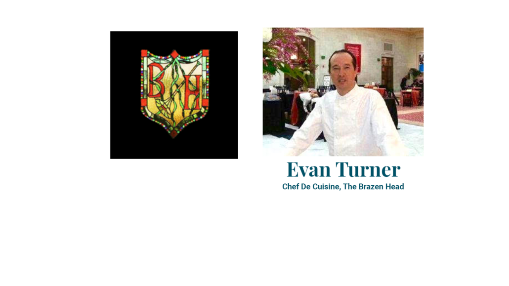 Evan Turner Chef De Cuisine, The Brazen Head